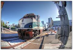Downtown (Olivia Heredia) Tags: california winter usa naturaleza nature train us downtown unitedstates sandiego tram socal invierno hdr highdynamicrange tonemapped tonemapping 1exp oliviaheredia oliviaherediaotero