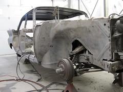 Preparation for paint (60Fire) Tags: canada classiccar restoration mopar fins desotofireflite