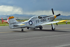 P-51D Mustang s/n 44-74582 (skyhawkpc) Tags: garyverver allrightsreserved 2014 fortcollinslovelandmunicipalairport fnl kfnl co colorado loveland fortcollins northamerican p51d mustang 4474582 crusader nj51t warbird aviation aircraft airplane