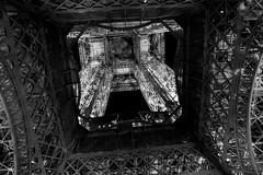 Inside. (Shardana '77) Tags: travel blackandwhite bw paris monochrome architecture tour arc toureiffel inside viaggio bnw biancoenero