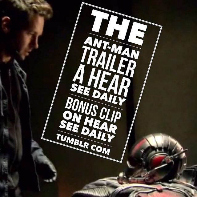 #Ant-Man #trailer. A www.hearseedaily.tumblr.com Bonus Clip. #movie #popculture #popcultureblog #hearseedaily #junop #aj #ajjunop #preview #marvel #superhero