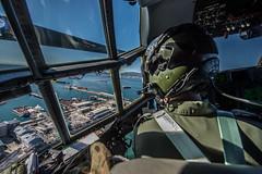 Gibraltar Port, Cockpit of RAF Hercules C130C5P ZH883 (David Parody) Tags: david m parody 2014