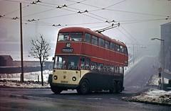 Fall Lane, Marsden, Huddersfield, 1963 (Lady Wulfrun) Tags: winter yorkshire january bradley 40 westyorkshire 27th trolleybus huddersfield 1963 gec marsden wintry 625 leedsroad manchesterroad sonow zp1000 falllane gecdioptrion kvh225 keldregate 27thjanuary1963
