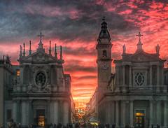 tramonto di solstizio (italo dei silenzi) Tags: torino tramonto piemonte piedmont hdr piazzasancarlo nexus