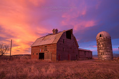 She's a Beauty (Bridget Calip - Alluring Images) Tags: abandoned barn sunrise dawn silo dramaticsky allrightsreserved copyrighted goldenlight 2015 mountainwavecloud bridgetcalip alluringimagesllc