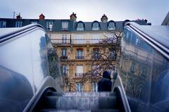 Paris, Place de la Nation (Calinore) Tags: street city paris france reflection architecture facade escalator reflet rue ville 12e xiie escalierroulant