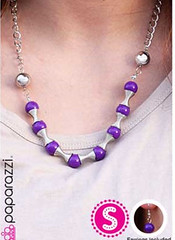 Glimpse of Malibu Purple Necklace K1 P2410-2