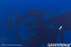 Shell Gulf Spill (Greenpeace USA 2016) Tags: ocean usa gulfofmexico louisiana ship gulf shell greenpeace aerial oil drilling skimming fossilfuel breakfree cleanenergy portfourchon