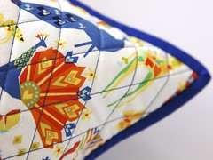 Origami Oasis cushion (Mary-and-Tobit) Tags: origami oasis patchwork cushion michaelmiller cushioncoversewing