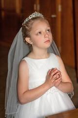 Eyes to Jesus (Teresa Ramella) Tags: church girl catholic prayer praying catholicchurch catholicism firstcommunion firstholycommunion 7sacraments