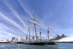 Cool Sky (George_Adkins) Tags: sandiego review pacificocean maritime californian sandiegobay maritimemuseumofsandiego tallshipcalifornian