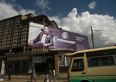 Giant billboard of ambassador on side of building, Addis abeba region, Addis ababa, Ethiopia (Eric Lafforgue) Tags: africa street city color building sign horizontal facade giant poster outdoors exterior capital large billboard advertisement business huge ethiopia addisababa groupofpeople signboard enormous hornofafrica advertise eastafrica thiopien etiopia abyssinia urbanscene ethiopie etiopa buildingexterior addisabeba  etiopija ethiopi  ethnicgroup etiopien etipia  etiyopya          addisabebaregion ethio163224