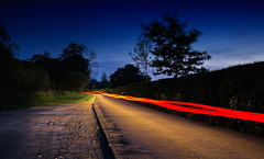 """Follow the Light..."" (-Mark Bean-) Tags: auto road fiction light shadow motion home car night painting drive evening movement saturated long exposure driving glow wheels trails science journey lane midnight scifi fi roads sci sy fy syfy"