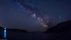Milky Way (C.A.Photogenics) Tags: sea colour water night contrast dark star long exposure space astro galaxy astrophotography dorset shooting lulworth milkyway