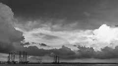 Storm clouds over refinery (hippo350) Tags: storm clouds haiku punggol oil refinery