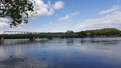 New Hope PA, Lambertville NJ. (conaero) Tags: bridge water border nj ducks pa newhope delawareriver lambertville