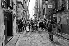 """ Tourists in Florence "" (pigianca) Tags: bw italy monochrome florence blackwhite streetphoto urbanphoto leicaq"