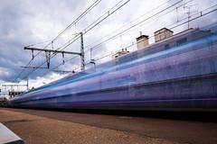 malakoff (Chakib.T) Tags: city urban paris colors clouds train movement nikon cityscape nd longexpossur d800e