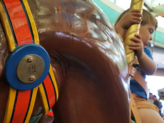 Good pick (quinn.anya) Tags: sam toddler horse carousel 42 santacruz boardwalk