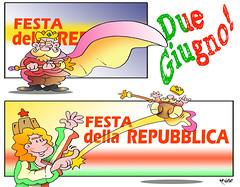 2 Giugno (Moise-Creativo Galattico) Tags: referendum vignette satira attualit moise repubblica giornalismo 2giugno monarchia editoriali moiseditoriali editorialiafumetti