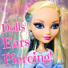 Easy Doll ears piercing tutorial up on my YouTube channel now!  (disneyboy21official) Tags: doll dolls barbie craft disney piercing earrings tutorial earpiercing youtube dollcraft monsterhigh everafterhigh darlingcharming