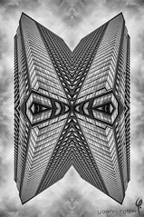 The Mask (Pixomatose) Tags: city nyc sky urban newyork abstract building monochrome lines architecture contrast construction mask geometry air symmetry