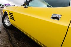Banana door (GmanViz) Tags: door color detail car wheel mirror nikon automobile stripes tire fender dodge 1972 challenger gmanviz d7000