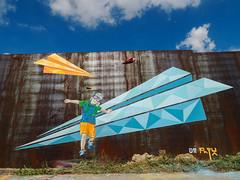Vuela (D11 Urbano) Tags: boy art plane fly stencil arte venezuela caracas urbano altamira venezolano volar arteurbano d11 streetartvenezuela artvenezuela d11streetart arteurbanovenezuela d11art d11urbano