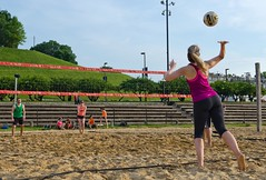 2016-05-27 BBV Coed Doubles (31) (cmfgu) Tags: baltimore beach volleyball bbv md maryland innerharbor net ball outdoor league athlete game coed doubles twos 2s craigfildesfineartamericacom