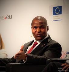 Faustin-Archange Touadra, President of the Central African Republic - Brussels - European Development Days - 2016 (Durickas) Tags: edd edd2016 europeandevelopmentdays brussels tourtaxis