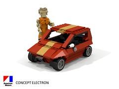 AMC Concept Electron - 1977 (lego911) Tags: amc concept electron 1977 1970s american motor corporation classic auto car moc model miniland lego lego911 ldd render povray usa america electric battery atom physics lugnuts challenge 104 thescienceofitall science foitsop