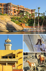 Aswan Egypt, Cruise on the Nile (shaire productions) Tags: egyptandthenile contikiegypt image picture photo photograph collage shaireproductions sherriethaiphotos travel tour tourism exotic international trip traveler traveling vacation pictures egypt egyptian aswan nile river nilerivercruise buildings beauty country shore hotel resort exterior culture cultural heritage