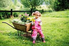 Nikon FE2 + Fuji Superia 200 (mravcolev) Tags: flowers portrait film nature girl analog child naturallight analogue daydreaming nikonfe2 fujisuperia200 nikkor50mm14ais
