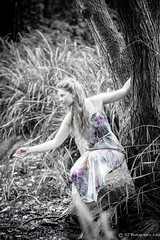 Laura - low-12 (RJ Photographic (600,000 views Thank You)) Tags: trees laura water outdoors pond model woods shoot july pixie 2016