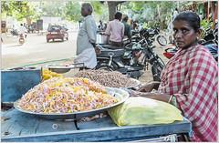 Roadside eatery (Ramalakshmi Rajan) Tags: people woman india nikon streetphotography vendor indians tamilnadu casualshot vendors streetvendors indianwoman womanpower mukkudal roadsideshops nikond5000 nikkor18140mm