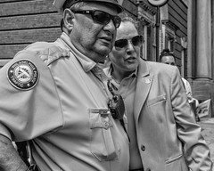 Philadelphia, 2016 (Alan Barr) Tags: street portrait people blackandwhite bw philadelphia monochrome lumix mono blackwhite candid streetphotography panasonic sp streetphoto 13thstreet 2016 gx8