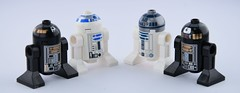 Lego droids old vs new (Alex THELEGOFAN) Tags: lego r2 d2 q5 star wars droid blue black white