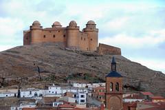 La Calahorra. Granada-DSC_0301-W (taocgs) Tags: espaa castle architecture landscape andaluca spain arquitectura village pueblo paisaje granada castillo lacalahorra countrytown