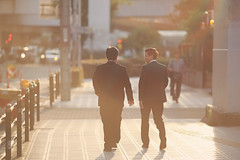 After Work ([~Bryan~]) Tags: afterwork office work business people sunset dutyoff street cinematic streetphotography light backlight osaka city urban citylife japan 135l