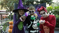 Lock, Shock, Barrel Halloween costumes! (Waffle_Princess1955) Tags: christmas costumes party halloween cosplay lock barrel before masks shock nightmare mickeys mhp tsumtsum