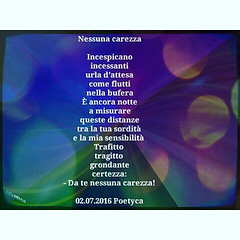 Nessuna carezza (Poetyca) Tags: featured image immagini e poesie sfumature poetiche poesia
