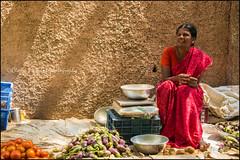 Market.  Madurai (Claire Pismont) Tags: pismont clairepismont portrait market documentory streetshot street streetphotography travel travelphotography asie asia inde india lifeinindia life light shadow vegetable veggies sari