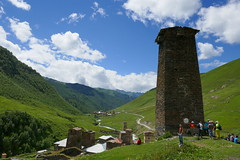 old svaneti stone watchtower (eikzilla) Tags: georgia europe georgien  svaneti ushguli stone watchtower