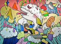 Apex Predator (chooyutshing) Tags: artwork wallmural acrylic apexpredator yureekensakuthailand stairwells samat8q singaporeartmuseum queenstreet singapore