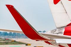 Air Canada Rouge B767-36NER C-GHLU (José M. Deza) Tags: 20161001 aircanadarouge b76736ner bcn boeing cghlu elprat lebl planespotting spotter aircraft
