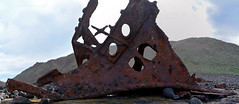 Speke Panorama 3 (PhillMono) Tags: nikon dslr d7100 australia shipwreck wreck ashore beached grounded rust sailing tall bow steel iron speke phillip island victoria oxidisation panorama history heritage ship boat vessel