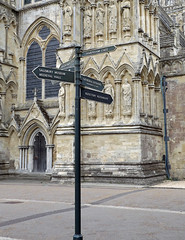Salisbury Cathedral 2016 (Sweet Mango 1965) Tags: salisbury cathedral 2016 wiltshire architecture sign directions
