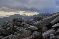 Glyder Fach summit rocks looking westward to Snowdon and the North Wales coast (neilsimpson515) Tags: nikon2470 tryfan snowdonia northwales nikon nikond800e landscape mountains