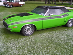 040918#82 RadiumShow~Chareece (stacy metcalf) Tags: 71 1971 dodge challenger lime rt convertible hail