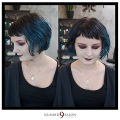 """We're halfway through our Fall Trend Forecast final looks! Here's a grunge-inspired razor bob with micro bangs, created by Frank; hues of the season created by Eric, who also added the perfect makeup match for this rockin' style!! • <a style=""""font-size:0.8em;"""" href=""""http://www.flickr.com/photos/41394475@N04/30290102075/"""" target=""""_blank"""">View on Flickr</a>"""